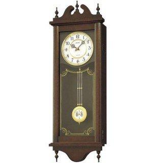 【SEIKO】掛け時計 報時(茶木地塗装)・RQ309A