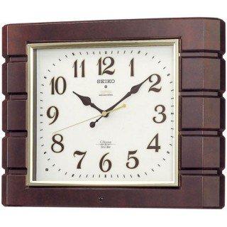 【SEIKO】掛け時計 報時(濃茶マーブル模様塗装光沢仕上げ)・RX209B