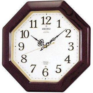 【SEIKO】掛け時計 報時(茶木地塗装 研磨光沢仕上げ)・RX210B