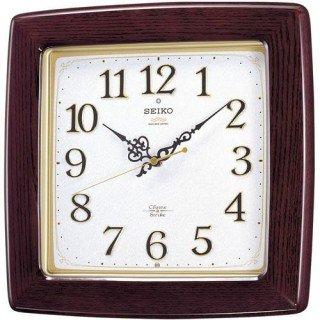 【SEIKO】掛け時計 報時(茶木地塗装 研磨光沢仕上げ)・RX211B