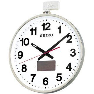 【SEIKO】電波掛け時計 オフィスタイプ(ステンレス)・SF211S