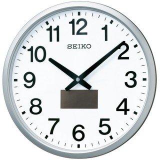 【SEIKO】掛け時計 オフィスタイプ(銀色メタリック塗装)・SF242S