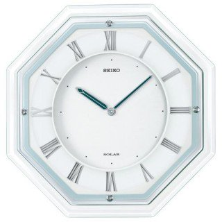 【SEIKO】掛け時計 ソーラープラス(白塗装)・SF503W