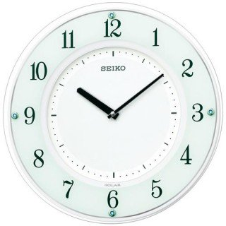 【SEIKO】掛け時計 ソーラープラス(白塗装)・SF505W