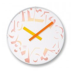 【Lemnos】DESIGN OBJECTS 掛け時計 SPREAD CLOCK(ブライト)・SPL08-12