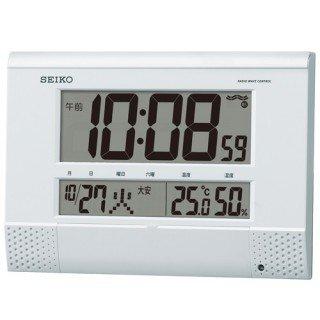 【SEIKO】デジタル時計 プログラム機能つき(白パール塗装)・SQ435W
