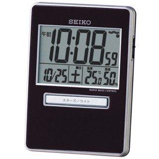 【SEIKO】デジタル時計 トラベラ(黒)・SQ699K