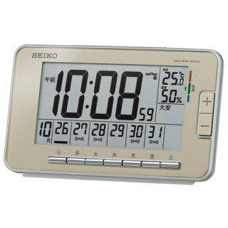 【SEIKO】デジタル時計 ウィークリーアラーム(薄金色パール塗装)・SQ774G