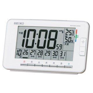 【SEIKO】デジタル時計 ウィークリーアラーム(白)・SQ774W