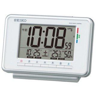 【SEIKO】デジタル時計 ウィークリーアラーム(白)・SQ775W