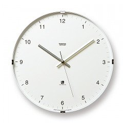 【Lemnos】CASA 掛け時計 North clock(ホワイト)・T1-0117WH