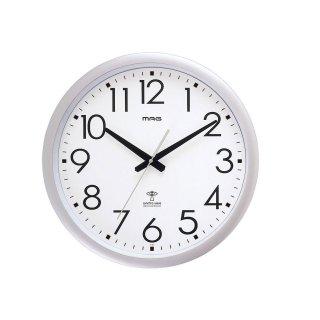 【MAG】電波掛け時計 アナログ掛け時計 ウェーブ420(銀メタリック)