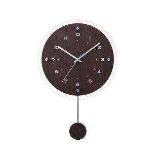 【R.C.S.】電波時計 インテリアクロック アンティール(ブラウン)