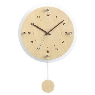 【R.C.S.】電波時計 インテリアクロック アンティール(ナチュラル)