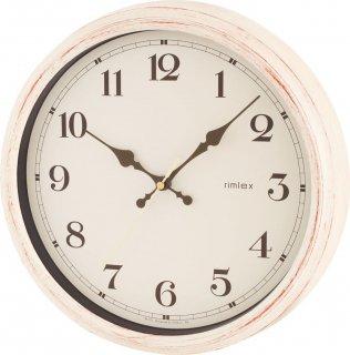 【rimlex】電波掛け時計 インテリアクロック エアリアルレトロ(ホワイト)