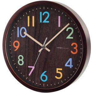 【rimlex】掛け時計 インテリアクロック フレデリカ(ブラウン)・W-620-BR