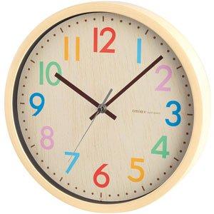【rimlex】掛け時計 インテリアクロック フレデリカ(ナチュラル)・W-620-N