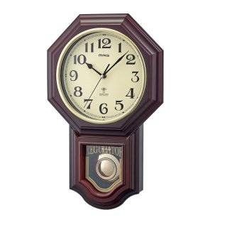 【MAG】電波掛け時計 プレミアムクロック 鹿鳴館DX(ブラウン)
