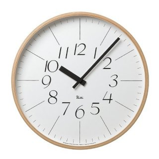 【Lemnos】DESIGN OBJECTS 掛け時計 RIKI CLOCK(ホワイト)・WR-0312L