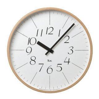 【Lemnos】DESIGN OBJECTS 掛け時計 RIKI CLOCK(ホワイト)・WR-0312L