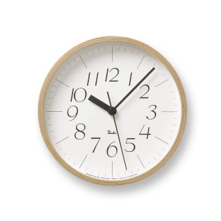 【Lemnos】DESIGN OBJECTS 掛け時計 RIKI CLOCK(ホワイト)・WR-0312S