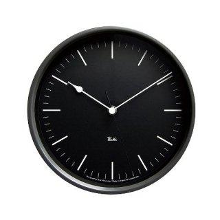 【Lemnos】DESIGN OBJECTS 電波掛け時計 RIKI STEEL CLOCK(ブラック)・WR08-24BK