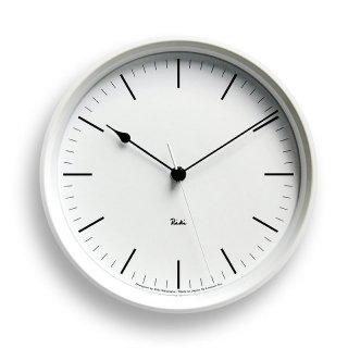 【Lemnos】DESIGN OBJECTS 電波掛け時計 RIKI STEEL CLOCK(ホワイト)・WR08-24WH