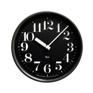 【Lemnos】DESIGN OBJECTS 電波掛け時計 RIKI STEEL CLOCK(リキクロック)(ブラック)