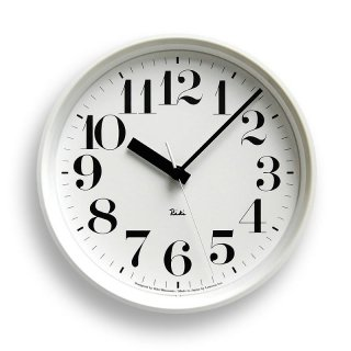 【Lemnos】DESIGN OBJECTS 電波掛け時計 RIKI STEEL CLOCK(リキクロック)