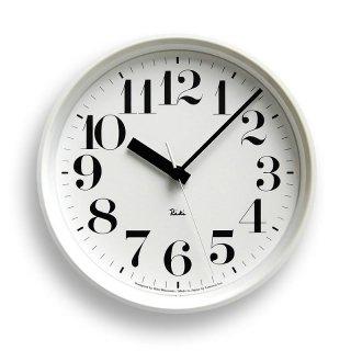 【Lemnos】DESIGN OBJECTS 電波掛け時計 RIKI STEEL CLOCK(リキクロック)