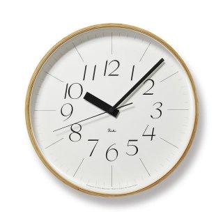 【Lemnos】DESIGN OBJECTS 電波掛け時計 RIKI CLOCK RC(リキクロック)
