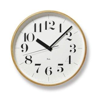 【Lemnos】DESIGN OBJECTS 電波時計 掛け時計 RIKI CLOCK RC(リキクロック・Lサイズ)・WR08-27