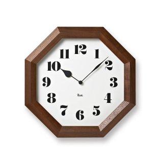 【Lemnos】DESIGN OBJECTS 掛け時計 八角の時計(ホワイト)・WR11-01