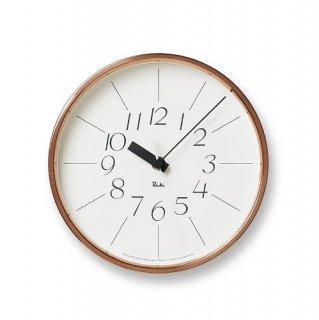 【Lemnos】DESIGN OBJECTS 掛け時計 銅の時計(ホワイト)・WR11-04