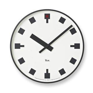 【Lemnos】DESIGN OBJECTS 掛け時計 日比谷の時計(ホワイト)・WR12-03