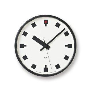 【Lemnos】DESIGN OBJECTS 掛け時計 日比谷の時計(ホワイト)・WR12-04