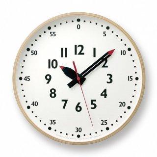 【Lemnos】KID'S+MODERN 掛け時計 fun pun clock(ホワイト)・YD14-08L
