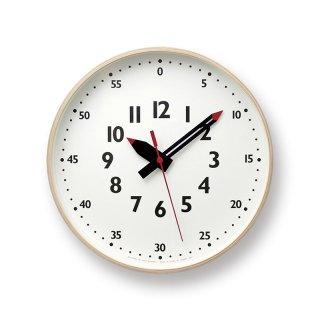 【Lemnos】KID'S+MODERN 掛け時計 fun pun clock(ホワイト)・YD14-08M