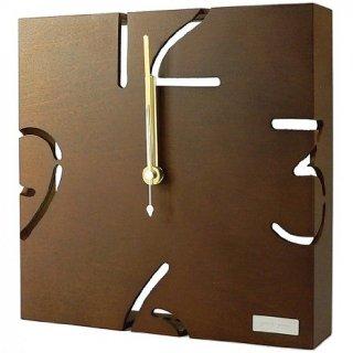 【ヤマト工芸】掛け時計PUZZLEWALLTYPE(ブラウン)・YK09-104BR