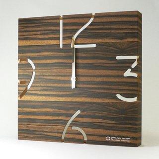 【ヤマト工芸】掛け時計PUZZLE-電波時計-(黒檀)・YK10-102E