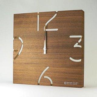 【ヤマト工芸】掛け時計PUZZLE-電波時計-(ウォールナット)・YK10-102W