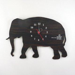 【ヤマト工芸】掛け時計SHADOWW-ゾウ-(黒檀)・YK10-104-1