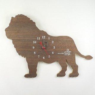 【ヤマト工芸】掛け時計SHADOWW-ライオン-(ウォールナット)・YK10-104-4