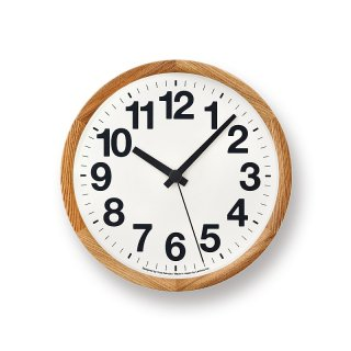 【Lemnos】DESIGN OBJECTS 掛け時計 Clock A(ナチュラル)・YK14-05NT