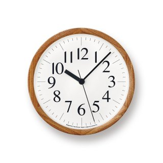 【Lemnos】DESIGN OBJECTS 掛け時計 Clock B(ナチュラル)・YK14-06NT