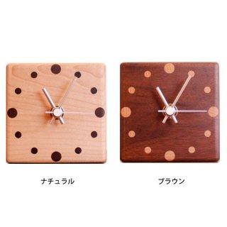 【ヤマト工芸】置き時計MUKUMARU-tableclock-(ブラウン)・YK15-003BR