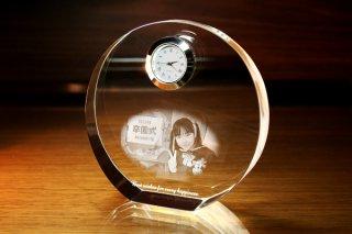 【GLASS CLOCK】サークルスタンドクロック(透明色) 置き時計 ガラス時計(ガラス製)・I101