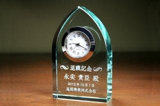 【GLASS CLOCK】置き時計 ガラス時計(ガラス製)・YOB024
