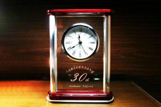 【GLASS CLOCK】置き時計 ガラス時計(ガラス製)・YOB031