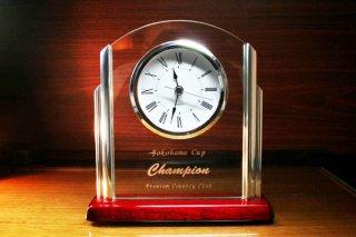 【GLASS CLOCK】置き時計 ガラス時計(ガラス製)・YOB072